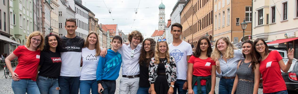 German students and teachers in Augsburg