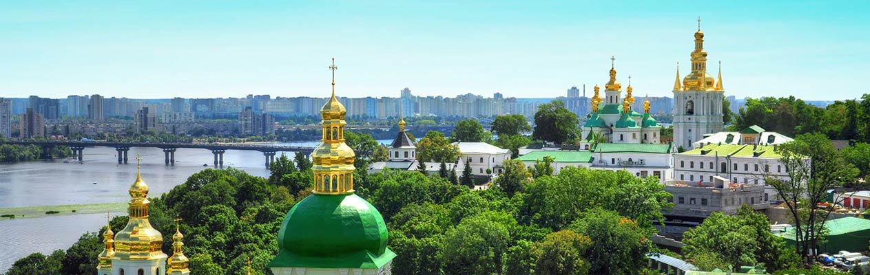 City of Kiev and churches in Ukraine