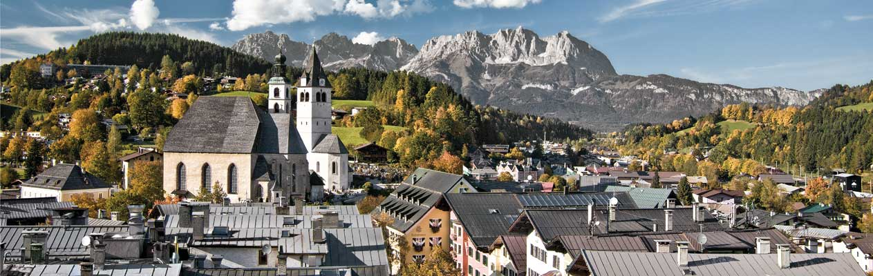 Kizbuhel, Austria in the summer