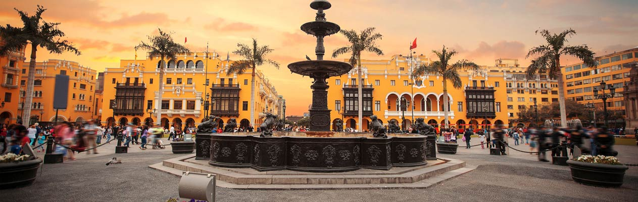Lima city centre, capital of Peru