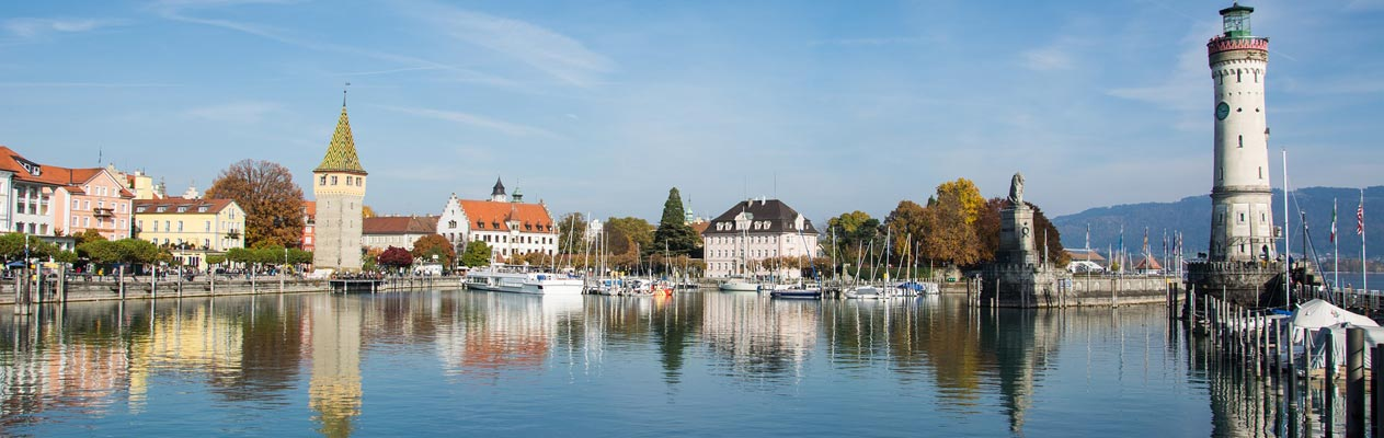 Lindau bay and lighthouse, Lake Constance
