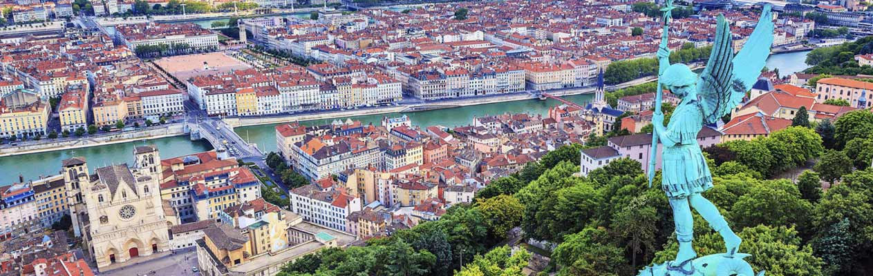 View over the city of Lyon, France