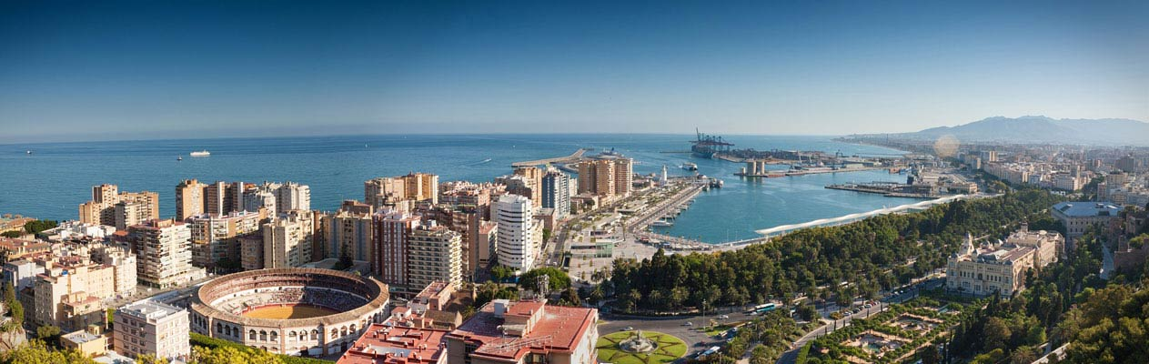The city of Malaga, Andalucia, Spain