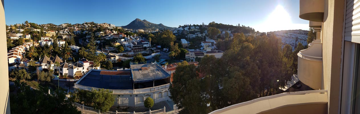 View from a private balcony at our Malaga school