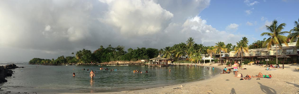 Beach in Martinique