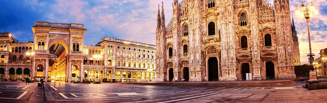 Milan Cathedral and Galleria Vittorio Emanuele II shopping mall