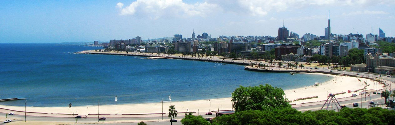 Montevideo city and beach