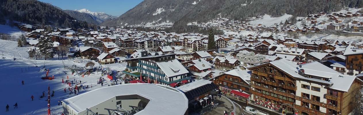 Alpine city of Morzine, France