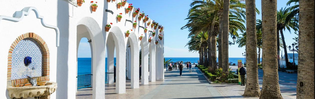 White buildings in Nerja, Costa del Sol