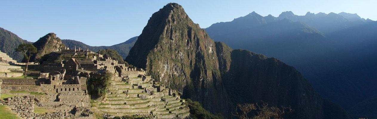Machu Picchu mountain scene in Peru