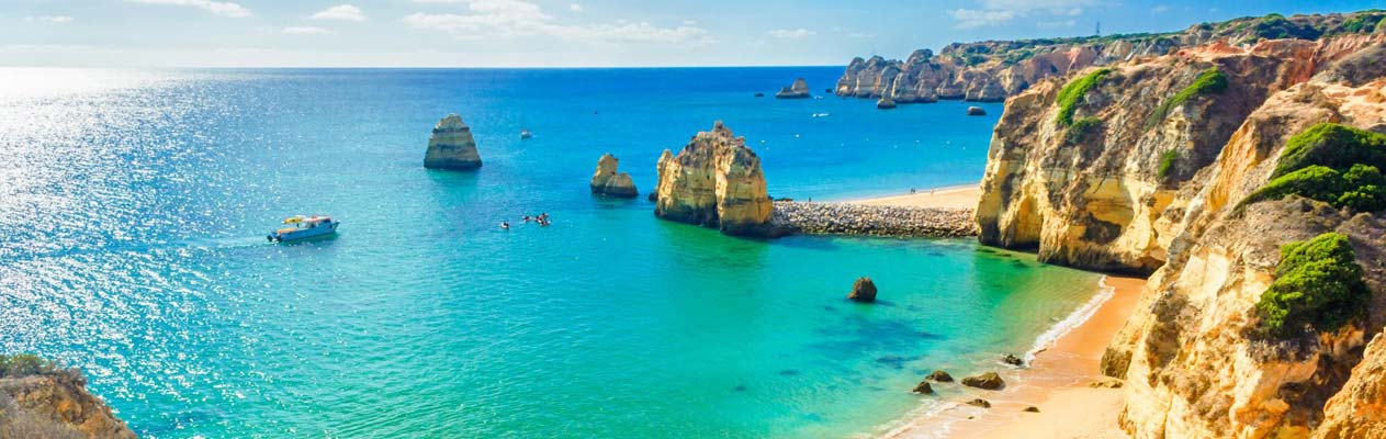 Stunning beach in the Algarve, Portugal