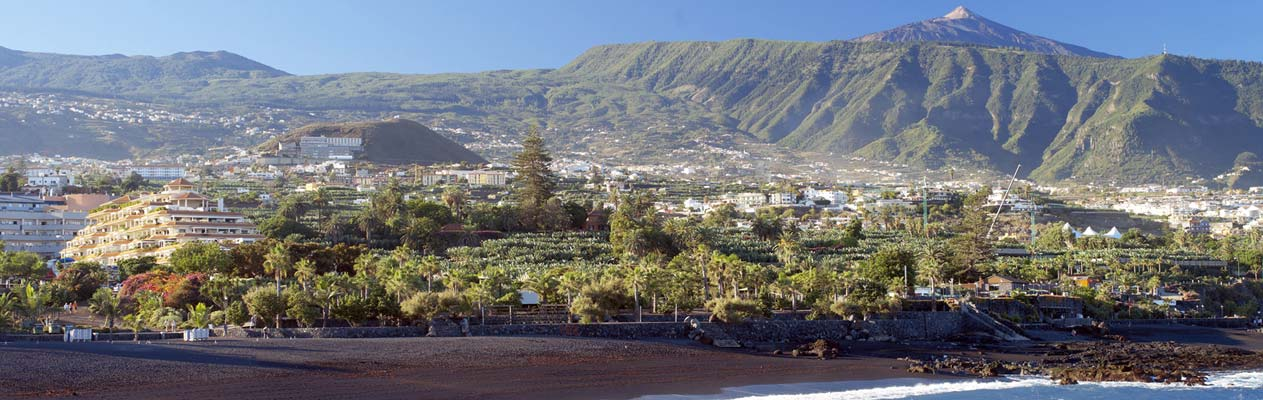 Puerto de la Cruz on Tenerife's north coast