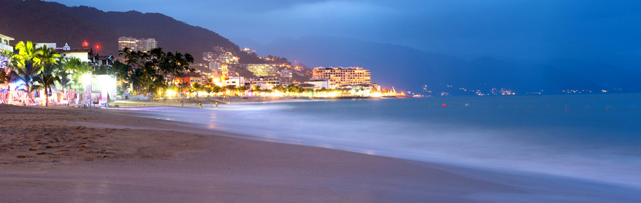 Puerto Vallarta beach at dusk, Mexico