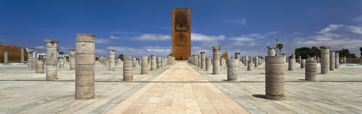 Hassan Tower minaret in Rabat, Morocco