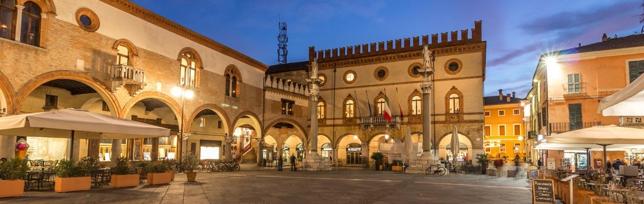 Ravenna Piazza del Popolo, city centre, Italy
