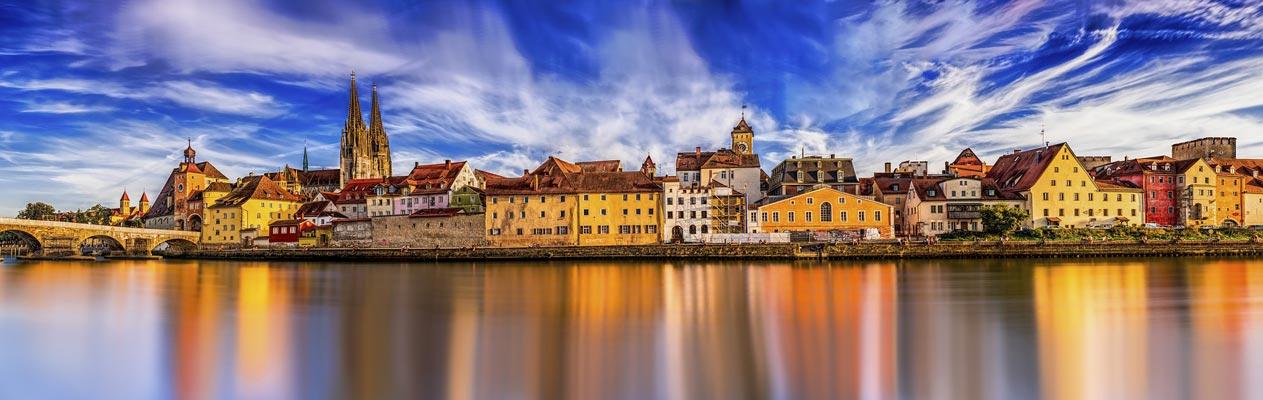City of Regensburg, Bavaria, Germany