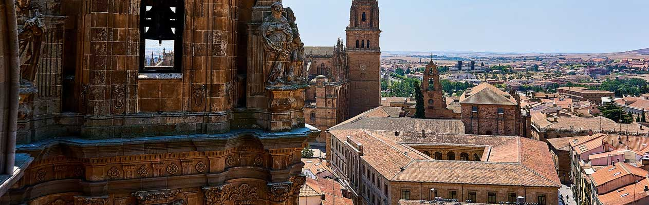 Salamanca pontifical university and Spanish countryside