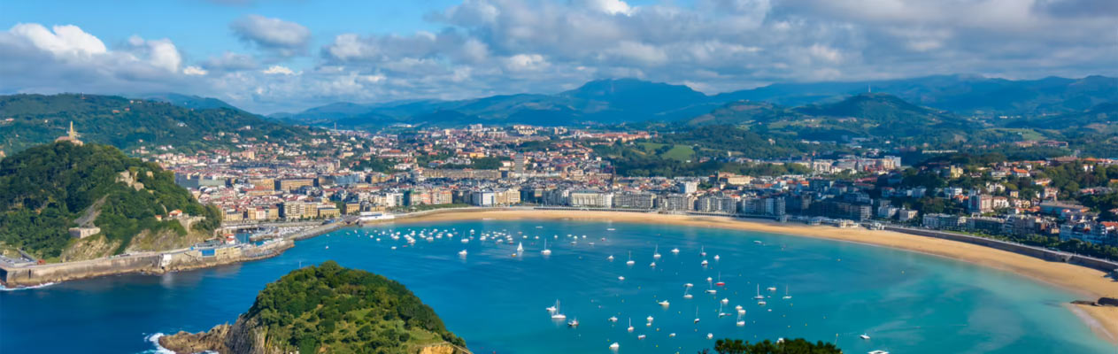 The Concha Bay in San Sebastián, Spain