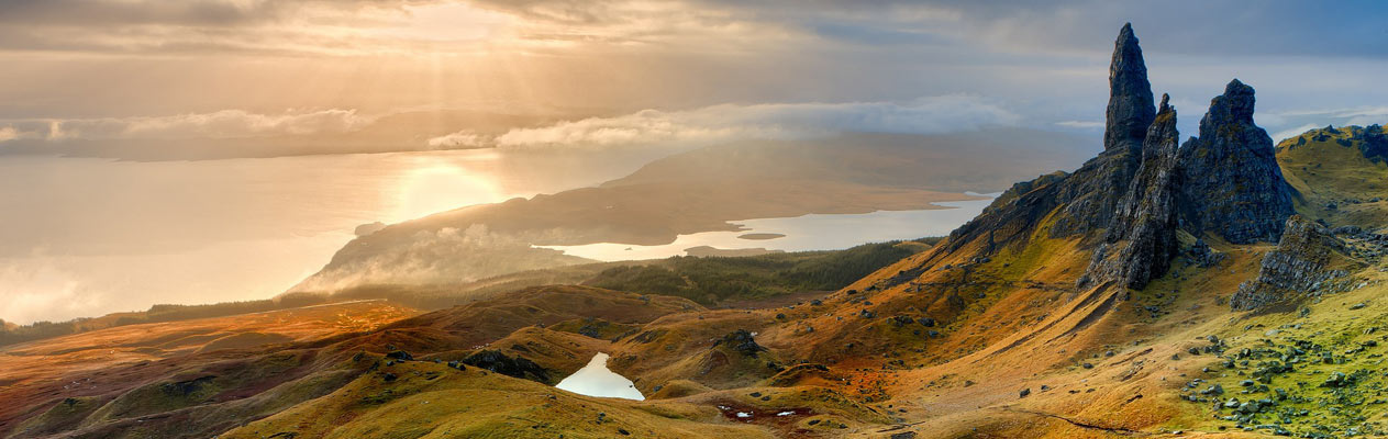 Stunning Scottish landscape, old man of storr