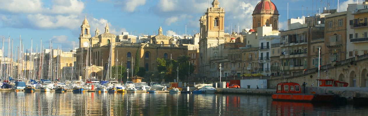 St. Julian's seaside town in Malta