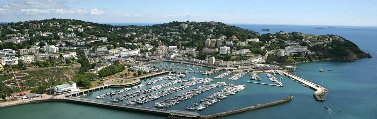 Torquay, seaside town in England