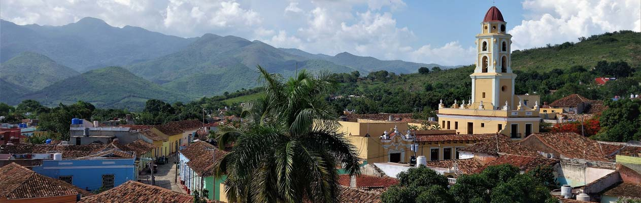View over Trinidad town in Cuba