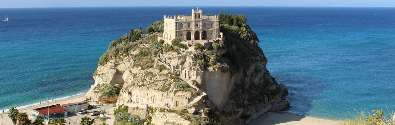 Monastery, Sanctuary of Santa Maria Island - Tropea, Calabria, Italy