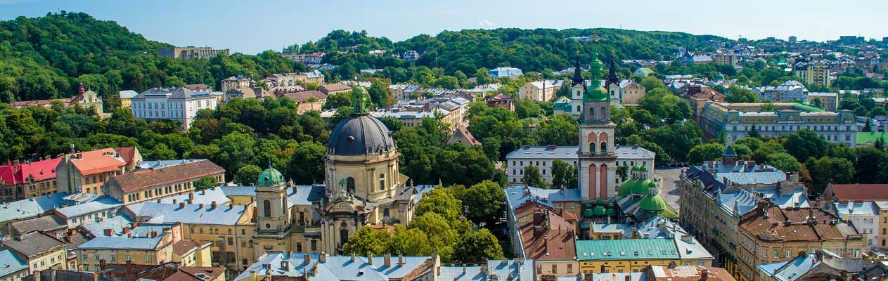 Lviv city in Ukraine