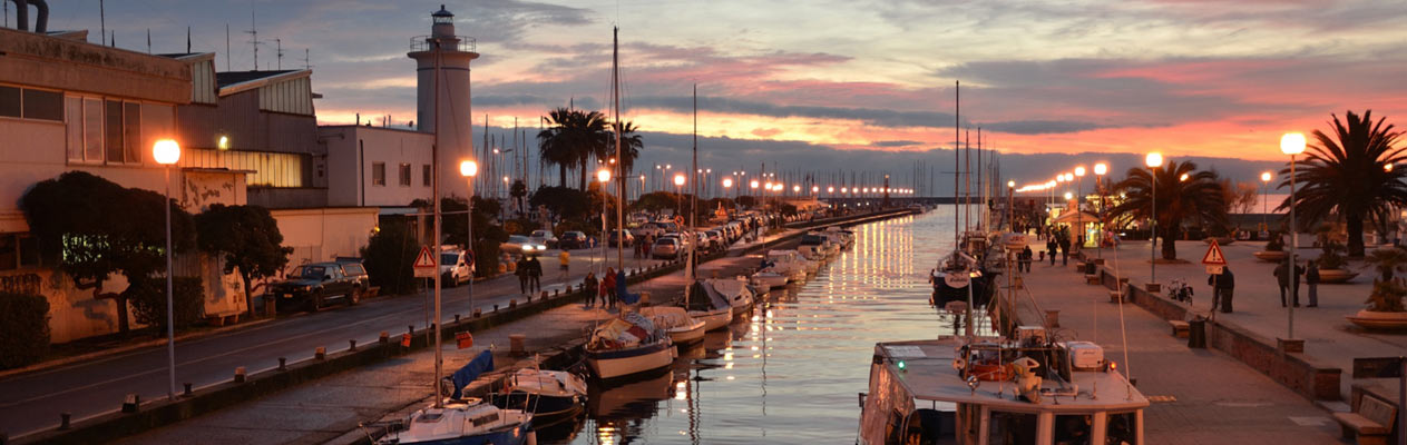 Viareggio on the coast of Tuscany in Italy